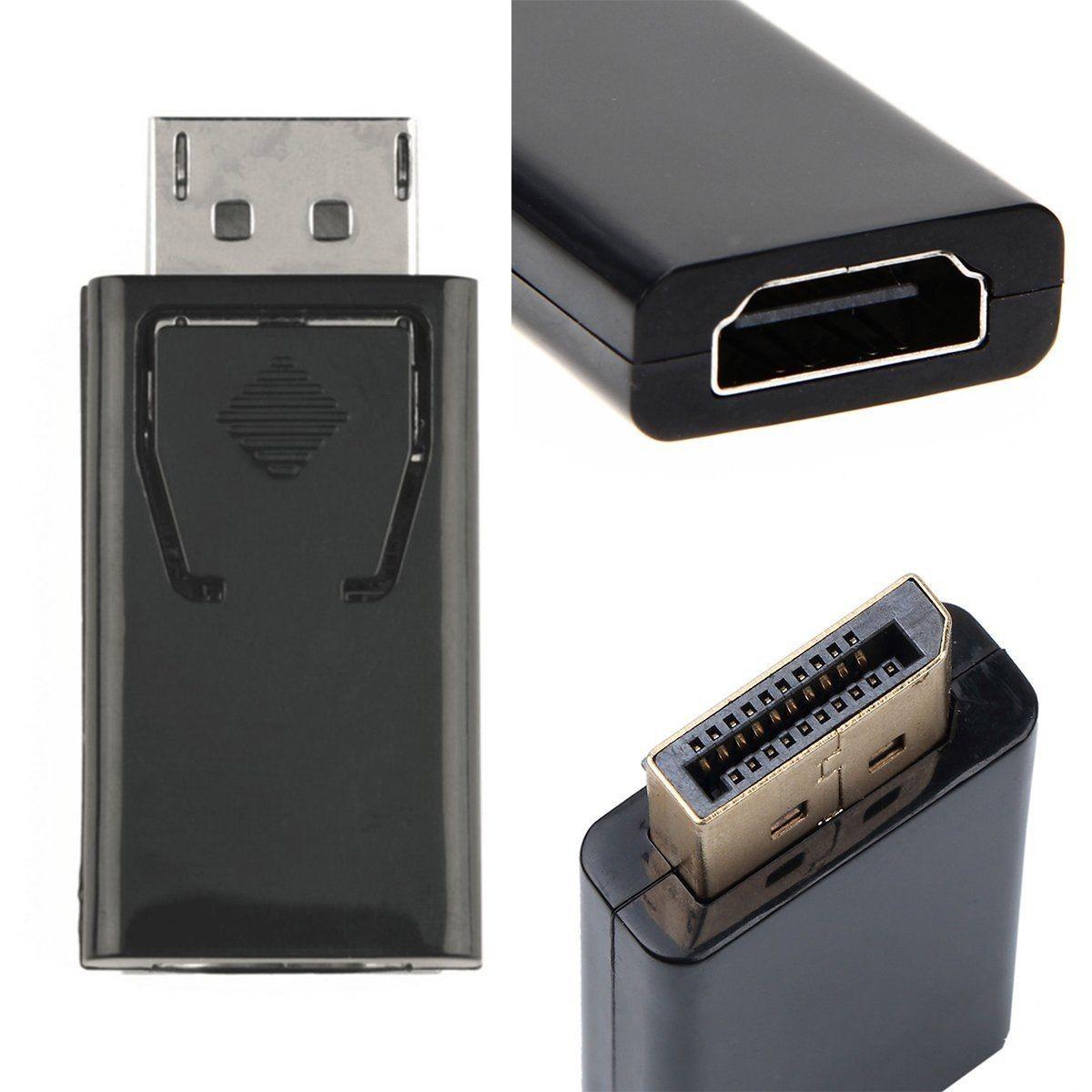 StarWare DP macho a HDMI hembra adaptador pasivo compatible con hasta 4K para ordenadores compatibles con DisplayPort para conectar pantallas HDMI aluminio gris espacio Adaptador DisplayPort a HDMI